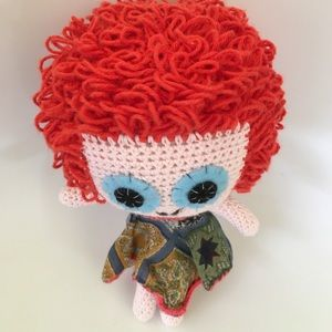 Contemporary Hand Crafted Cotton Crotchet Doll